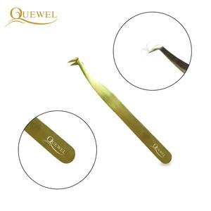 Image 3 - Zestaw pincet Quewel z przedłużoną pęsetą antystatyczną pincetą ze stali nierdzewnej precyzyjne, kwasoodporne narzędzia do rzęs
