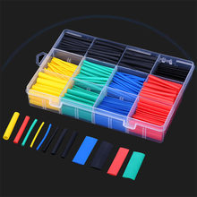 164pcs/box Heat Shrink Tube Kit Shrinking Assorted Polyolefin Insulation Sleeving Heat Shrink Tubing Wire Cable термоусадка