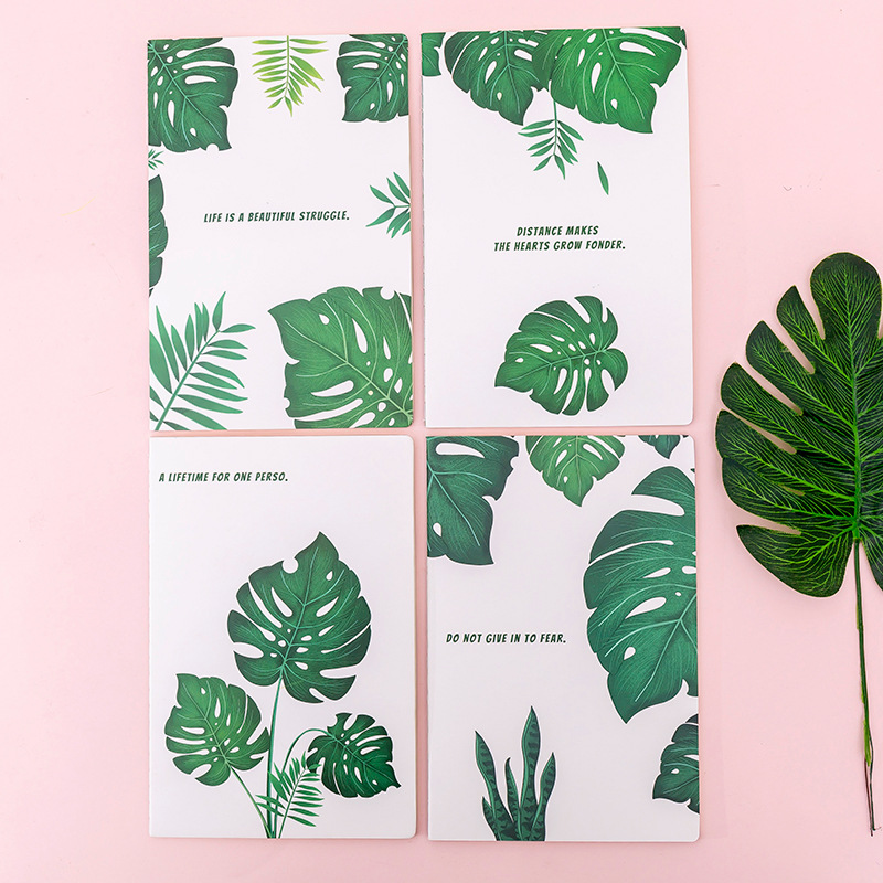 1Pcs 30 Sheets/Pad Creative Palm Leaf A5 Notebook For Students Simple Reading Diary Stationery School Office Supplies New