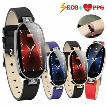 Luxury Women Men Watch Wrist Watch ECG PPG HeartRate Blood Pressure Monitor Bluetooth Smart Watch Remote Camera For Android iOS