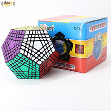 Shengshou Wumofang 7x7x7 매직 큐브 Teraminx 7x7 전문 12 면체 큐브 트위스트 퍼즐 교육 완구