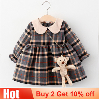 Infant Baby Girl Dress 2020 Fall Casual Long Sleeve Plaid Princess Dresses for Baby Girls Clothing Birthday Toddler Girl Dress autumn newborn baby dress girls clothes long sleeve plaid princess dresses for infant baby clothing 0 2y toddler girl dress