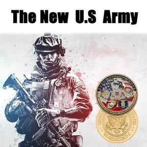 RH США темно-синий USAF USMC, армия, Coast Guard, американский свободный Тотем Орел, Золотая военная медаль, вызов, коллекция монет