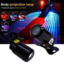 Asas de anjo do automóvel luz 9v 60v 5w 7000k bem vindo lâmpada projetor fantasma sombra poça para motocicletas super brilhante dropshipping