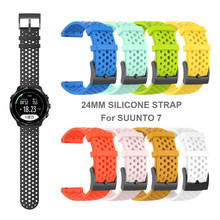 24 Mm Silicone Sport Band Voor Suunto 7 Smart Watch Polsband Horlogeband Vervangbare Accessoires(China)
