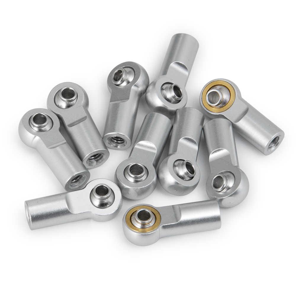 AXSPEED 10/20 piezas M4 aluminio Tie/Push Rod Ends bola de acero para RC Tamiya camión oruga