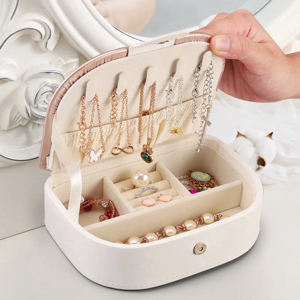 New Jewelry Storage Box Earrings Ring Necklace Case Jewel Packaging Cosmetics Beauty Organizer Container Box Storage