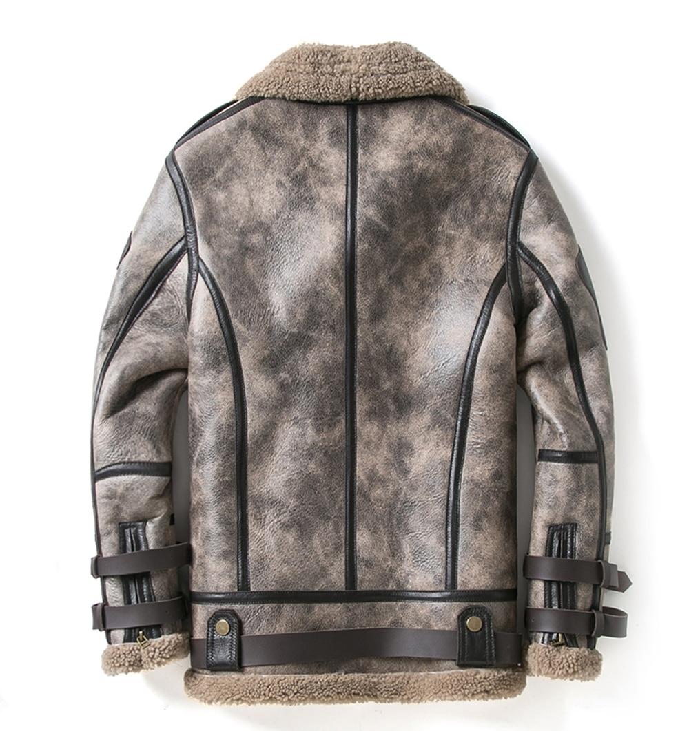 Hdeca158919554caeb26bb9ab2ff11d10J 2019 Fashion 100% Quality Real Sheepskin Fur Men Coat Genuine Full Pelt Sheep Shearling Male Winter Jacket Brown Men Fur Outwear