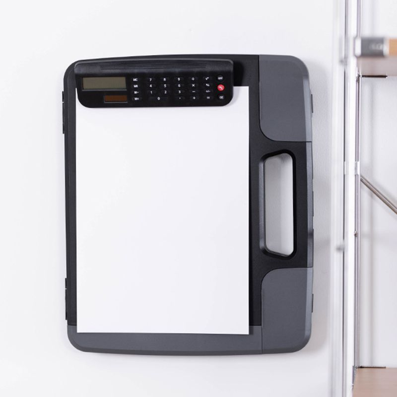 Portable A4 Files Document Clipboard Storage Case Organizer with Calculator Home