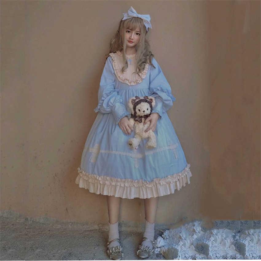 Платье в стиле Лолиты, новинка 2019 года, в японском стиле, милые, каваи, для девочек, крест, готический, кружевной Корт, принцесса, косплей, Хэллоуин, вечерние, женские, викторианские
