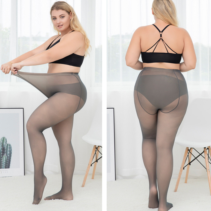 Womens Plus Size Tights Fleece Lined Pantyhose Autumn Winter Super Elastic Magical Stretchy Seamless 5XL Large ouc572 in Tights from Underwear Sleepwears