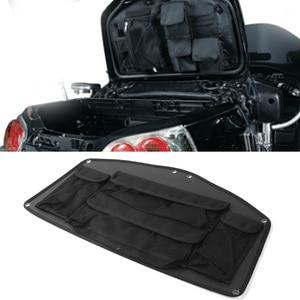 GL1800 Motorcycle Rear Trunk Lid Organizer Black Bag Pouch for Honda Goldwing GL 1800 2001-2011 2012 2013 2014 2015 2016 2017