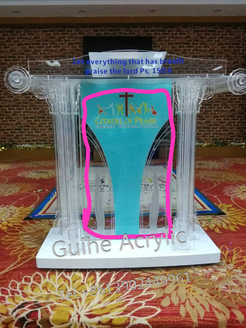 Modern Appearance And Commercial Furniture General Use Plexiglass Podium For Church