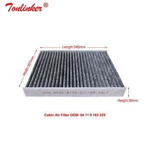 Image 4 - Cabin Filter Oem 64119163329 For Bmw 5 F07 F10 F11 2009 2019 518d 520d 520i 523i 525i 528i 530d 535d 550i M5 2Pcs Carbon Filter