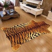 Fashion zebra imitation fur carpet living room bedroom bedside floating window full blanket anti skid door pad Home Decoration