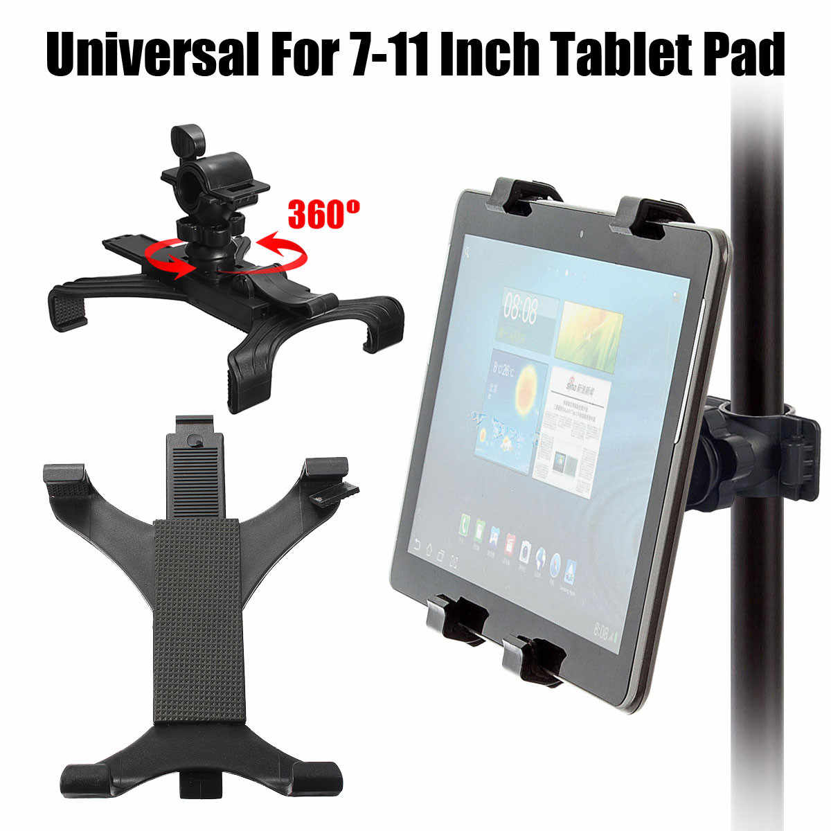 Support de montage Gym tapis de course vélo guidon Clip support sport réglable support de tablette universel 7-10 pouces pour iPad pour tablette