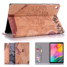 Retro Map case for Samsung galaxy tab S5E T720 T725 2019 tablet case for galaxy tab 10.5 flip cover with card slot stable stand цена 2017