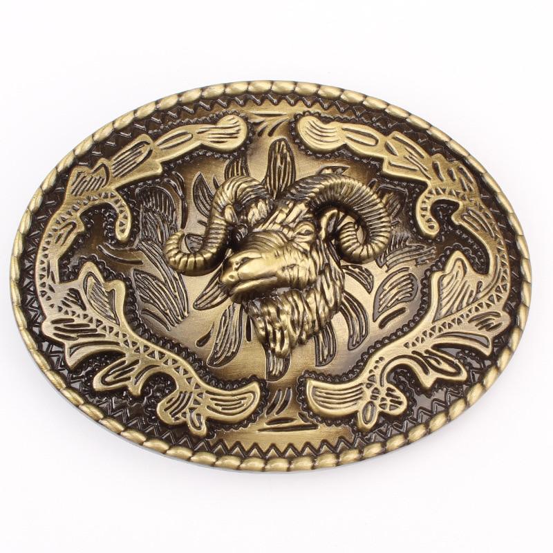 Sheep Head Pattern Belt Buckle For 3.8cm 4cm Belt DIY Components Homemade Handmade Waistband