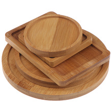 Bowls-Plates Trays-Base Bamboo Round Succulents Home-Decoration Pots Crafts Square Stander