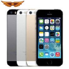 Apple iPhone 5S çift çekirdekli 16GB/32GB/64GB ROM 1GB RAM 8MP kamera IOS dokunmatik kimliği fabrika Unlocked orijinal cep telefonu