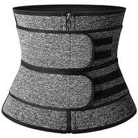 Gray Zipper 2 Belts