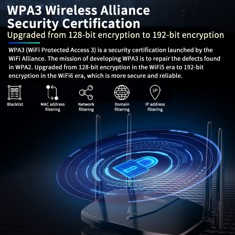 TOTOLINK Gigabit Wireless Wifi 6 Router X5000R 1.8Gbps Dual Band WiFi Signal Amplifier Whole House Coverage 6