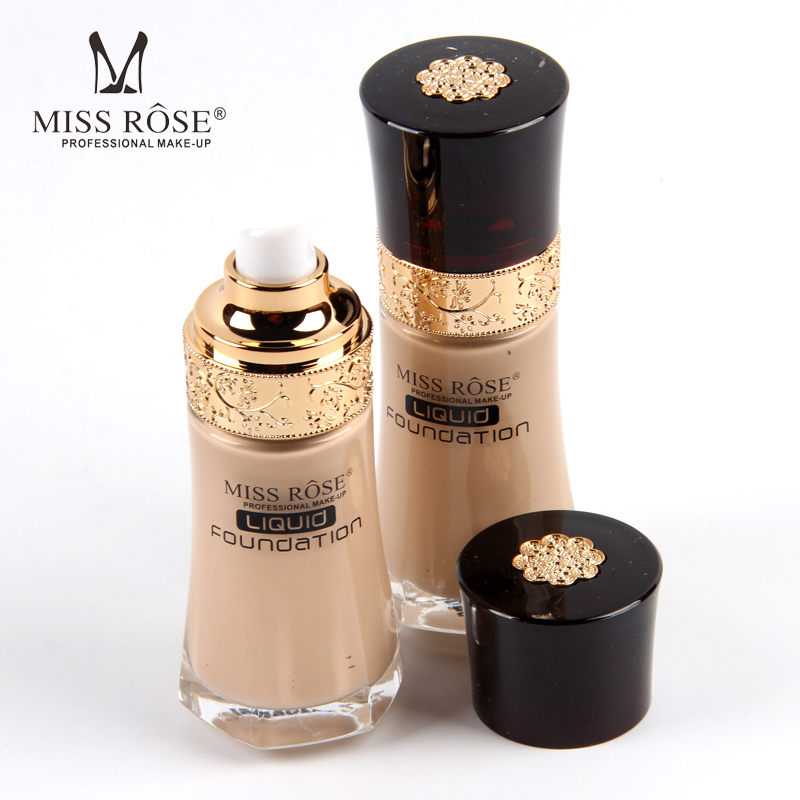 Miss Rose Liquid Foundation Round Glass Bottle Concealer Make Up Whitening Primer BB Cream Waterproof Long Lasting Foundation