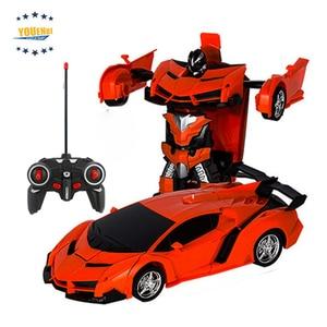 Image 3 - トランスカーロボット変形ロボットリモートコントロールカー 1 ボタン自動操作現実的なエンジン音
