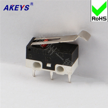 20 PCS MS-006 Tripod Micro Switch Mouse Switch Rectangular Bend Handle Downward JL014