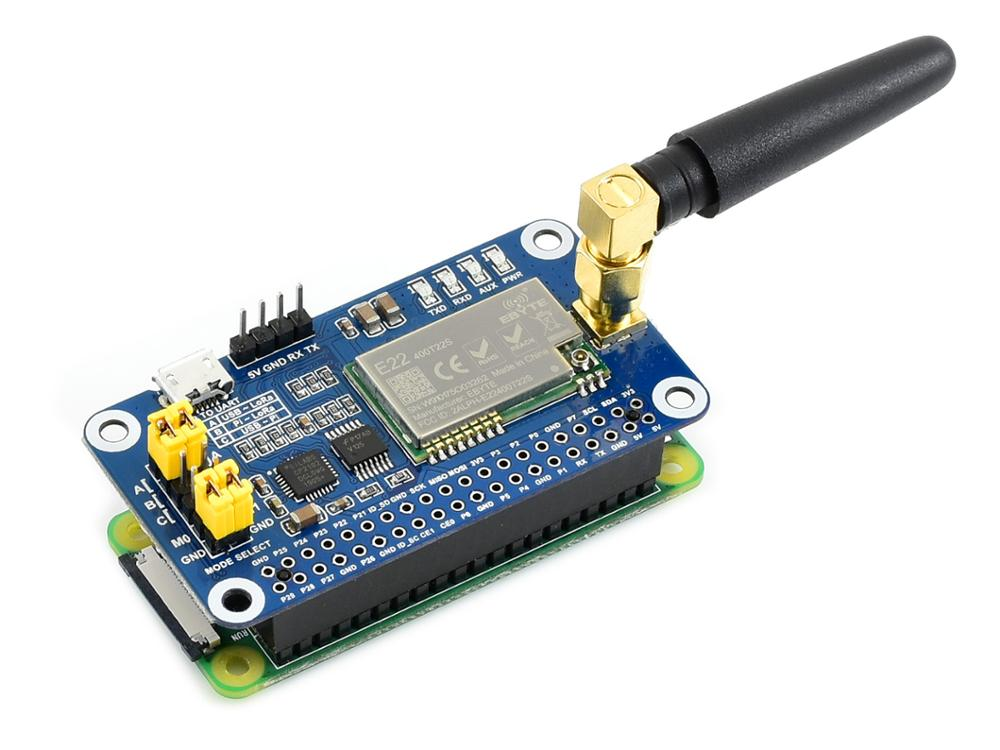 Waveshare SX1268 LoRa HAT For Raspberry Pi, Spread Spectrum Modulation, 433MHz Frequency Band