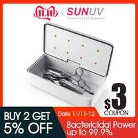 SUNUV 59S esterilizador uv caja de herramientas de belleza esterilizador caja de almacenamiento S2 caja de desinfección portátil para salón de herramientas de arte de uñas