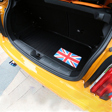 Car Rear trunk mat Leather protection Pad For BMW MINI COOPER S ONE+ F56 logo Carpets decoration Interior Accessories styling for lada largus 2012 2018 trunk mat floor rugs non slip polyurethane dirt protection interior trunk car styling