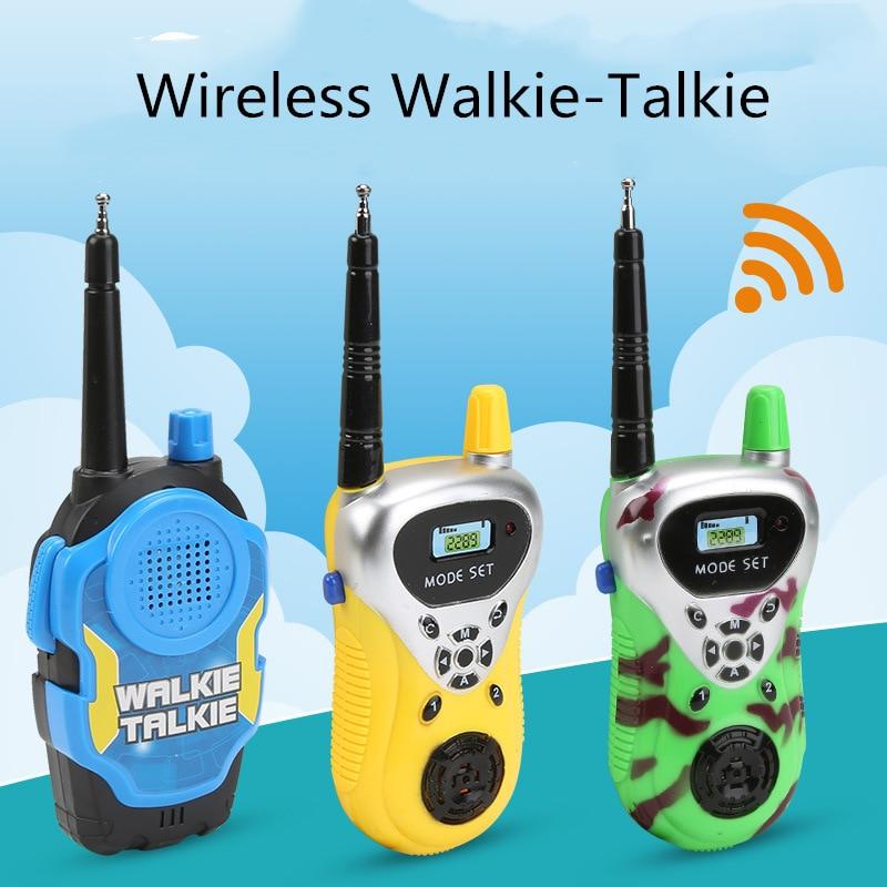2 Pcs/ Children Wireless Walkie Talkie Toys Children Toys Walkie Talkies Two Way Radio Long Range Handheld Transceiver Kids Gift