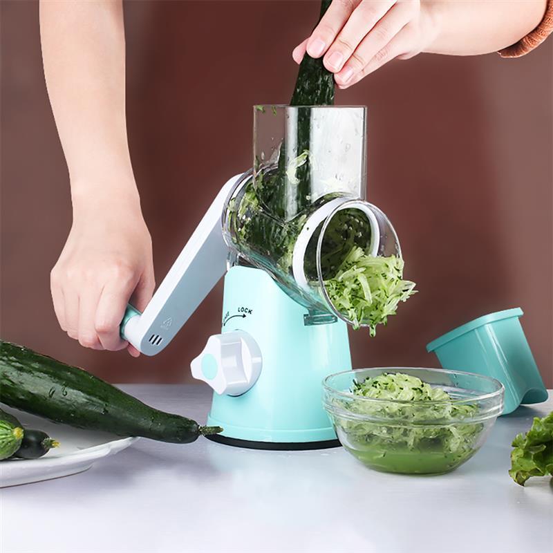 Hot Stainless Steel Fruit Vegetable Cutter Round Mandoline Slicer Grater Best