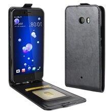 Para HTC U11 funda U11 Flip de silicona PU Cartera de cuero arriba y abajo Hit ColorFull funda de teléfono para HTC U11 U 11 contraportada