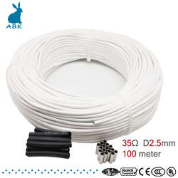 HRAG 100m high quality 12K 33ohm carbon fiber heating cable floor heating wire Non-toxic odorless warm heating cable