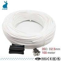 Hrag 100m de alta qualidade 12 k 33ohm cabo de aquecimento de fibra de carbono fio de aquecimento de piso não-tóxico inodoro quente cabo de aquecimento
