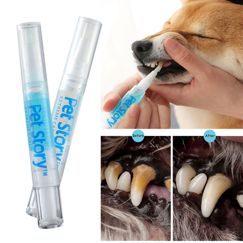 3/5ml Pets Teeth Cleaning Tools Dogs Cats Tartar Remover Dental Stones Scraper Plastic Cleaning Pen Cleaning Tools
