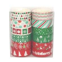 12 Pcs/Set washi tape Christmas masking Kawaii stationery Creative stickers scrapbooking cinta adhesiva decorativa