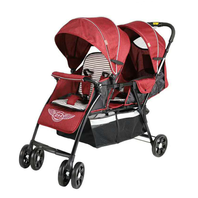 Lightweight Twin Baby Stroller Double Seat Infant Carriage Two Child Carts 0-3 years Old