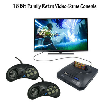 16 bit Video Game Console with US and Japan Mode Switch AV-out for Original Handles Export Russia with 300 500 600 Classic Games 1