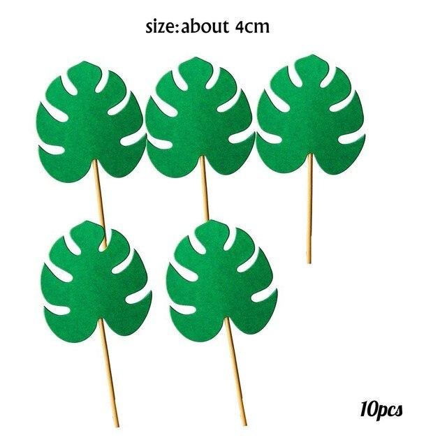 10pcs Green Palm