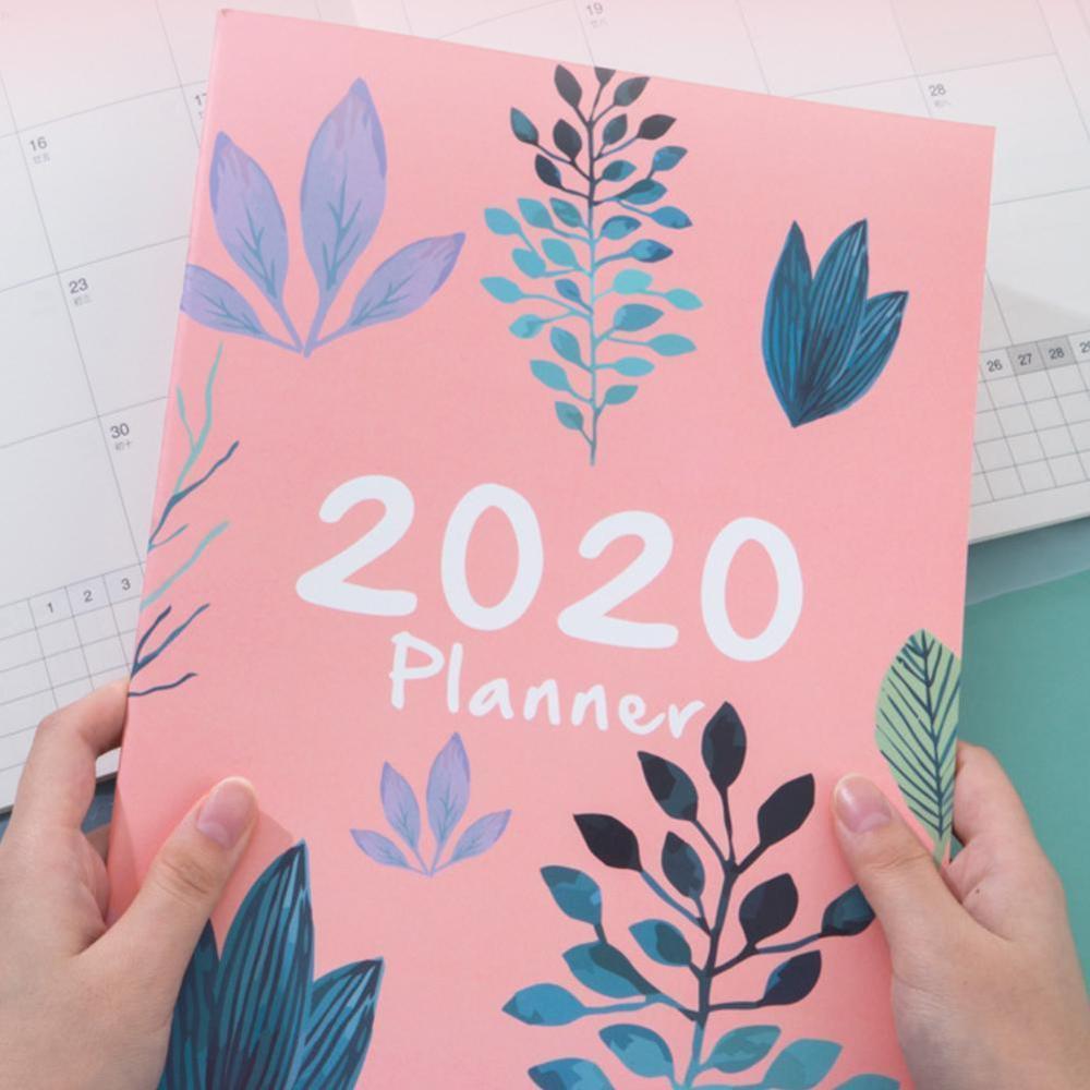 1PCAgend 2020 planlayıcısı organizatör A4 dizüstü ve dergiler DIY 365 gün planı not defteri Kawaii aylık haftalık program yazma kitabı