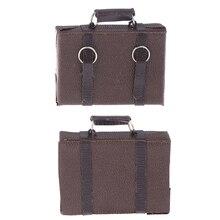 1 шт. винтажный кожаный деревянный чемодан Мини-кукольный багажный ящик ролевые игры мебель игрушки кукольный домик Миниатюрный аксессуар
