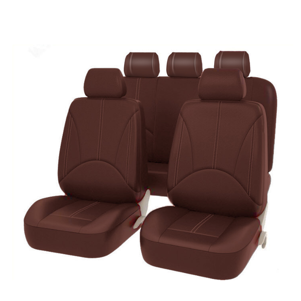 2/5 Seats Black Brown Car Seat Covers Interior Accessories Universal Auto Interior Styling Decoration Protector Car Seat Cover