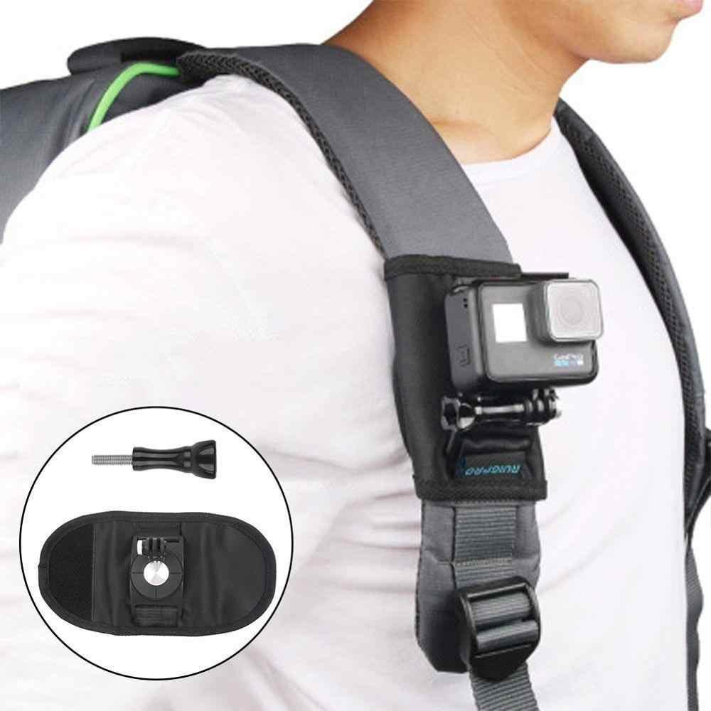 Nuova Macchina Fotografica di Sport Zaino Clip di Montaggio Rotativo Da 360 Gradi Per Xiaomi Yi per Gopro Hero7 6 5 4 Macchina Fotografica di Azione accessori