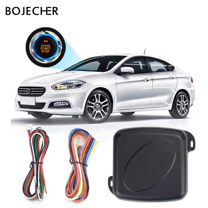Botão de pressão Do Motor Starline Alarme de carro auto Start Stop RFID Sistema de Entrada Sem Chave de Bloqueio Remoto Central de Bloqueio Anti-roubo sistema