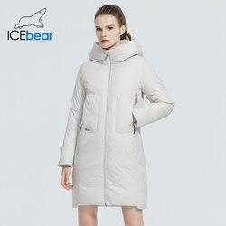 ICEbear 2020 новый продукт женская куртка Ветрозащитная и теплая повседневная женская хлопковая куртка Модная куртка с капюшоном GWD20129D