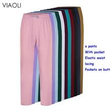 viaoli Polyester cotton solid color Beauty pants salon nursing pants lab pants pet shop Scrub pants Elastic tether Work pants