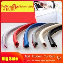 Tiras de Borde de puerta para coche, 1M, goma, goma, moldeado, Protector, sellado, antifricción, Accesorio de estilismo para coche, Universal